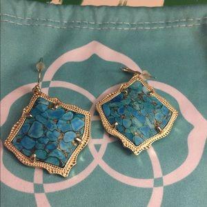 Kendra Scott Kirstens—Bronze Veined Turquoise